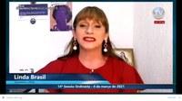 """""""Estamos vivendo uma tragédia sanitária no país"""", adverte a vereadora Linda Brasil"""