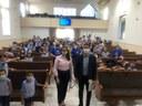 Comemorando o 'Dia do Vereador', Ricardo Marques conversa com estudantes sobre a importância do parlamento