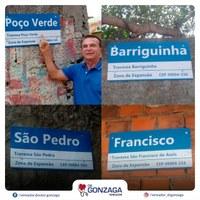 Dr. Gonzaga comemora instalação de placas de identificação de ruas