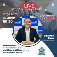 Eduardo Lima é o convidado da Live Parlamento Digital