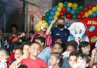 Eduardo Lima participou de várias Ações Sociais voltadas para o Dia das Crianças
