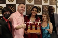 Eduardo Lima participou do evento Premiação do Tesoura de Diamante