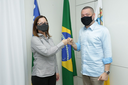 Eduardo Lima se reúne com a Vice- prefeita Katarina Feitoza.