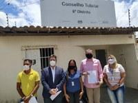 Eduardo Lima visitou a sede do 6° Distrito do Conselho Tutelar de Aracaju