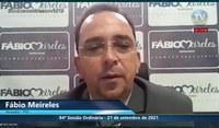 Em dicurso, Fábio Meireles fala sobre demandas da população para o Poder Executivo