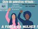 Escola do Legislativo promove ciclo de Palestras virtuais sobre o Dia Internacional da Mulher