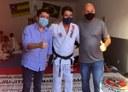 Fabiano Oliveira visita projeto social acompanhado do secretário Sérgio Thiessen