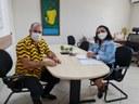 Isac se reúne com secretária da Assistência Social para garantir moradias à população desassistida no Bairro Industrial