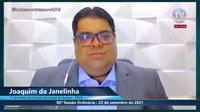 Joaquim da Janelinha apela em sessão ajuda para morador do conjunto Augusto Franco