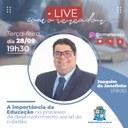 Joaquim da Janelinha é o convidado da Live do Parlamento Digital