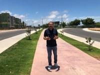 Juvêncio Oliveira  parabeniza  prefeitura municipal por obra no Augusto Franco
