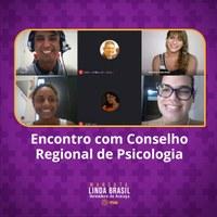 Linda se reúne com Conselho Regional de Psicologia