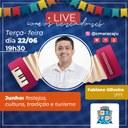 Live com os vereadores recebe Fabiano Oliveira