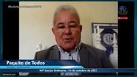 Paquito de Todos fala sobre audiências públicas do Plano Diretor