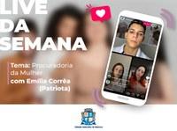 Em live da Câmara, Emília Corrêa fala sobre Procuradoria da Mulher e combate à violência doméstica
