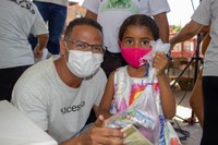 Sargento Byron realiza ação para crianças em situação de vulnerabilidade social