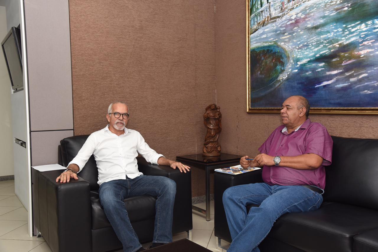 Seu Marcos se reúne com o prefeito Edvaldo Nogueira