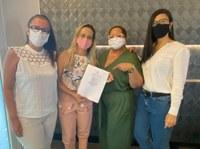 Sheyla Galba assina compromisso e coloca mandato à disposição do Mulheres do Brasil