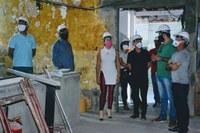 Último grupo de vereadores visita reforma da Câmara de Aracaju