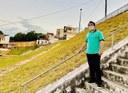 Vereador Sávio visita Bairro América e solicita reforma de praça